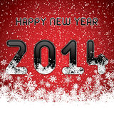 Happy New Year. Red abstract Happy New Year 2014 vector Stock Images