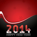 Happy New Year. Red abstract Happy New Year 2014 vector Stock Photography