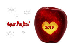 Happy New Year. 2015 red apple Stock Images