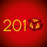 Happy new year 2014. Red background Royalty Free Stock Images