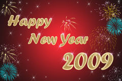 Happy new year red background Stock Photos
