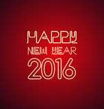 Happy new year 2016. Red background with Happy new year 2016 sign Stock Photo