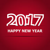 2017 Happy New Year on red background. Stock vector Stock Images