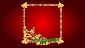Happy New Year red backgrounds video stock video footage