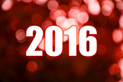 Happy New Year red blur light Royalty Free Stock Image