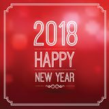 Happy new year 2018 Royalty Free Stock Photography