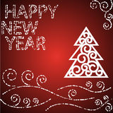 Happy new year red card Royalty Free Stock Photo