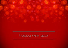 Happy new year 2016. Red color tone background Royalty Free Stock Images