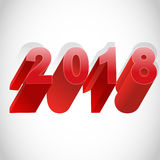 2018 Happy New Year. Royalty Free Stock Photos