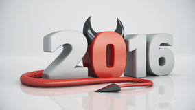 Happy new year 2016 red devil. Design made in 3D Royalty Free Illustration