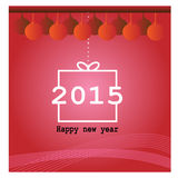 Happy new Year red greeting card Stock Image