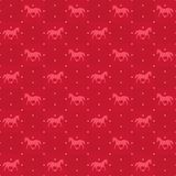 Happy new year red horse seamless pattern Royalty Free Stock Images