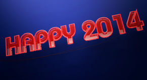 Happy 2014. Happy new year 2014 red neon sign Stock Images