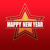 Happy New Year in red stars Stock Images