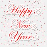 Happy New Year red stickers. Vector icon Stock Photos