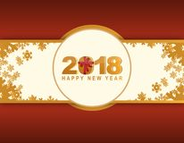 2018 happy new year red winter card. Illustration design Stock Image