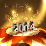 2014 happy New Year reflection Greeting card. Celebration background Stock Photography