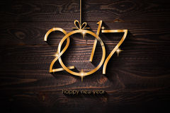 2017 Happy New Year Restaurant Menu Template Background. For Seasonal Dinner Event, Parties Flyer, Lunch Event Invitations, Xmas Cards and so on Royalty Free Illustration
