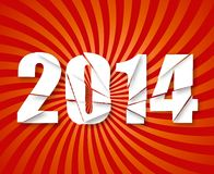 2014 Happy New Year retro background. r. 2014 Happy New Year retro background. Vector Royalty Free Illustration
