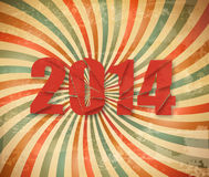 2014 Happy New Year retro background. Royalty Free Stock Image