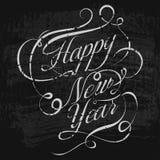 Happy New Year retro background. Vector illustration. EPS stock illustration