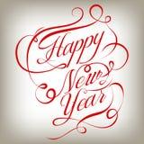 Happy New Year retro background. Vector illustration. EPS vector illustration