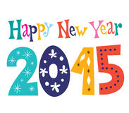 Happy New year 2015. Retro greeting card Royalty Free Stock Images