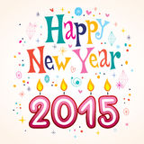 Happy New Year 2015. Retro greeting card Royalty Free Stock Photography