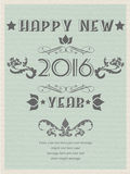 2016 happy new year retro poster flayer vintage. 2016 happy new year retro poster flayer Stock Image