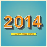 Happy new year retro poster Royalty Free Stock Photography