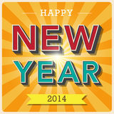 Happy new year retro poster Royalty Free Stock Image