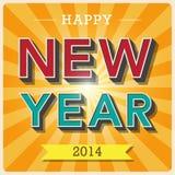 Happy new year retro poster. Illustratiom EPS10 Royalty Free Illustration