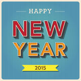 Happy new year retro poster Stock Photo