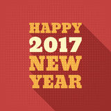 Happy New Year 2017 Retro Style text design. Vector greeting illustration with long shadow Royalty Free Stock Photo
