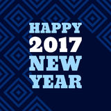 Happy New Year 2017 Retro Style text design Stock Photography