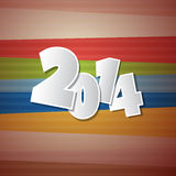 Happy New Year 2014. Retro Vector Happy New Year 2014 Background Stock Image