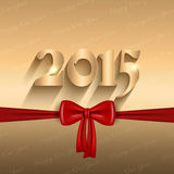 Happy New Year ribbon design. Happy New Year background with a glossy red bow Stock Photography