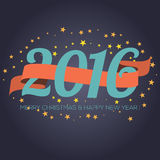 Happy New Year 2016 Ribbon With Stars. Vector Illustration Stock Illustration