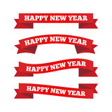 Happy new year ribbons Royalty Free Stock Images