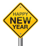 Happy New Year 2017 road sign. Welcome 2017 Royalty Free Stock Photos