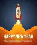 Happy new year rocket. Illustration of happy new year rocket eps 10 Royalty Free Stock Photo