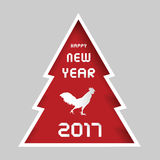 Happy new year 2017. Year of the rooster Royalty Free Stock Photography