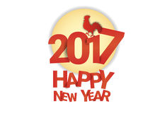 Happy New 2017 Year Rooster Bird Sign Asian Horoscope Stock Photography