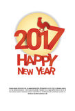 Happy New 2017 Year Rooster Bird Sign Asian Horoscope Royalty Free Stock Image