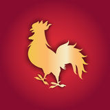 Happy New 2017 Year Rooster Bird Sign Asian Horoscope Royalty Free Stock Photo