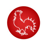 Happy New 2017 Year Rooster Bird Sign Asian Horoscope Stock Photos