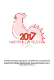 Happy New 2017 Year Rooster Bird Sign Asian Horoscope. Vector Illustration Stock Photo