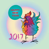 Happy new year 2017 with Rooster. Stock Images