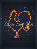 Happy 2017 New Year! Rooster. Happy 2017 New Year! Fire Rooster Stock Images