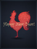 Happy 2017 New Year! Rooster. Happy 2017 New Year! Red Rooster Royalty Free Stock Photography